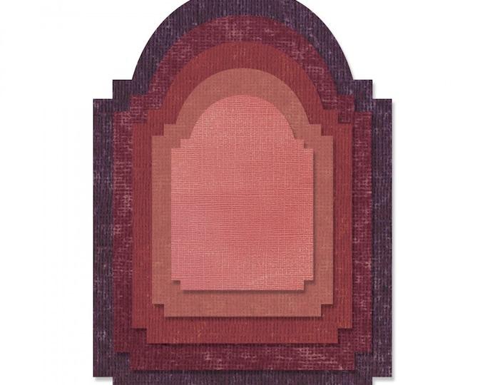 New! Sizzix Tim Holtz Thinlits Die Set 5PK - Stacked Archway 662692