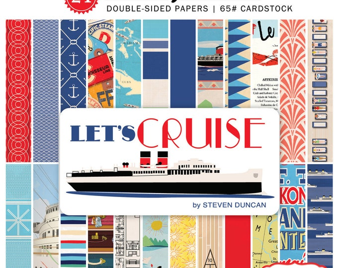 Carta Bella LET'S CRUISE 6x6 Scrapbook Paper Pad