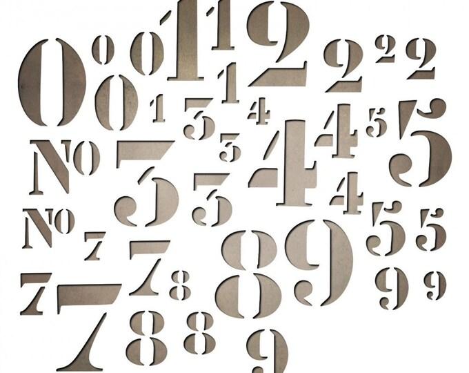Sizzix Tim Holtz Thinlits Die Set 38PK - Stencil Numbers