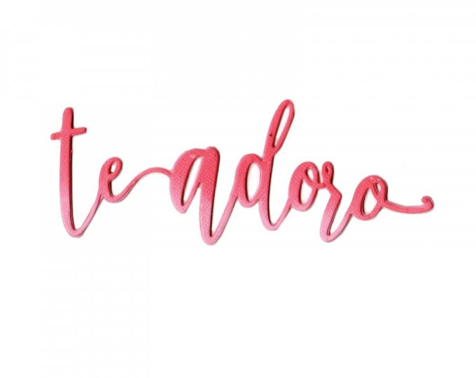 Sizzix Thinlits Die - Te Adoro (I Adore You) by Luisa Elena Guillen-K 662341