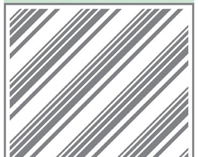 Echo Park Paper DOTS & STRIPES Diagonal Stripes 6x6 Stencil - New!