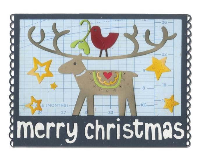 Sizzix Thinlits Die - Merry Christmas by Debi Potter