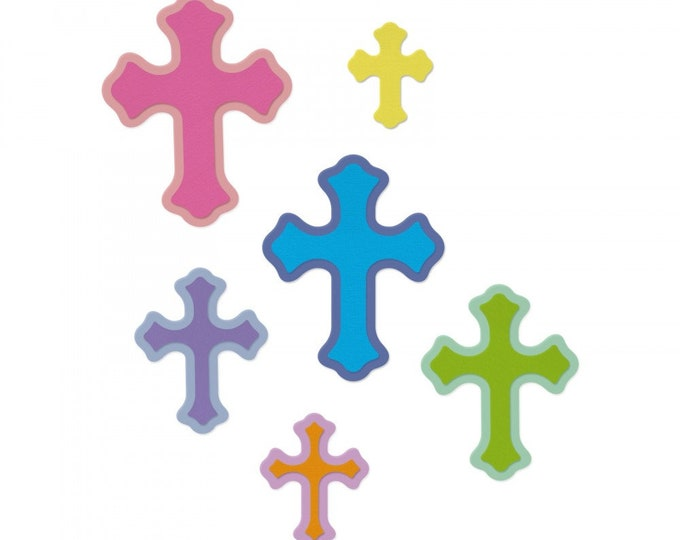 New! Sizzix Framelits Die Set 11PK - Cruzes (Crosses) by Luisa Elena Guillen-K 662952