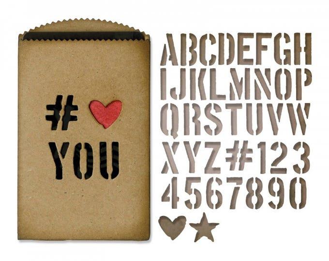 New!  Sizzix Tim Holtz Thinlits Die Set 40PK - Gift Card Bag 662687