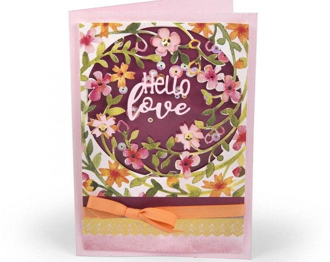New! Sizzix Thinlits Die Set 3PK - Floral Wreath by Lindsey Serata 662763