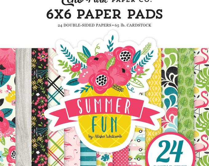 Echo Park Paper SUMMER FUN 6x6 Scrapbook Paper Pad