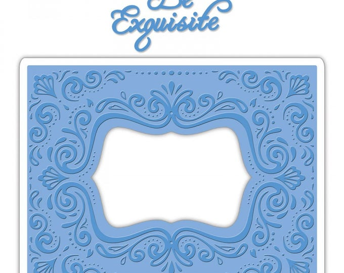 Sizzix Impresslits Cut & Emboss Embossing Folder - Aquarius Frame 661952