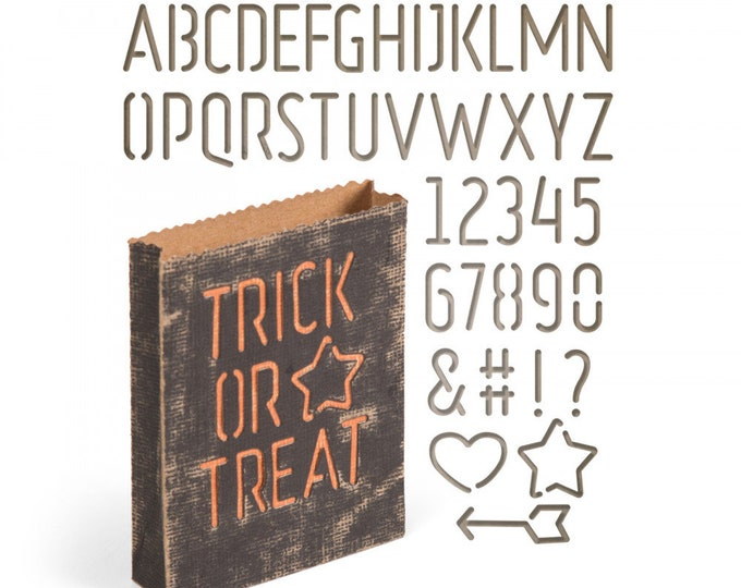 New! Sizzix Tim Holtz Thinlits Die Set 44PK - Treat Bag 663096