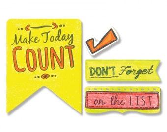 Sizzix Framelits Die Set 10PK w/Stamps - Make Today Count by Katelyn Lizardi