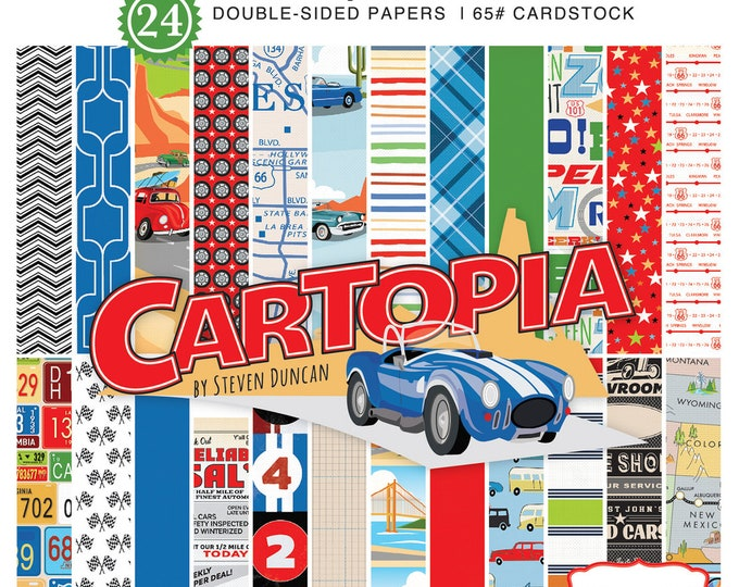 Carta Bella CARTOPIA 6x6 Scrapbook Paper Pad