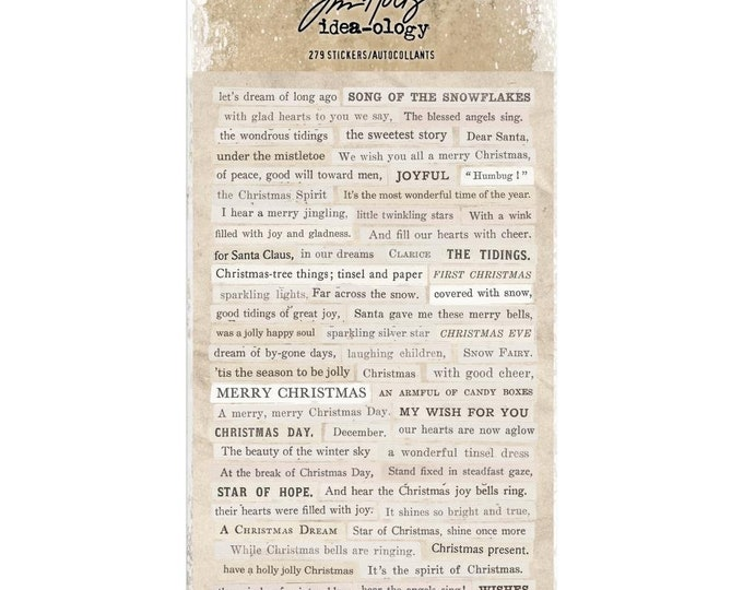 Tim Holtz Idea-Ology Clippings Stickers - Christmas (TH93754) New for 2018