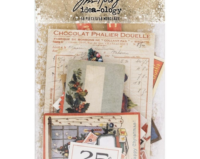 Tim Holtz Idea-Ology Ephemera Pack - Christmas (TH93740) New for 2018