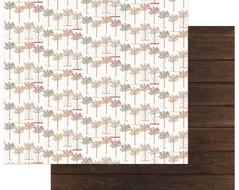 2 Sheets of Photo Play AUTUMN ORCHARD 12x12 Scrapbook Cardstock Paper - Giving