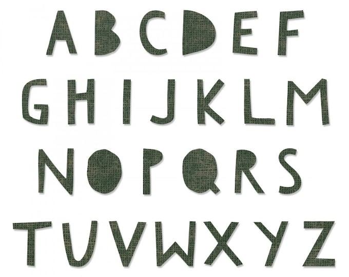 New! Sizzix Tim Holtz Bigz XL Alphabet Die - Cutout Upper 662707
