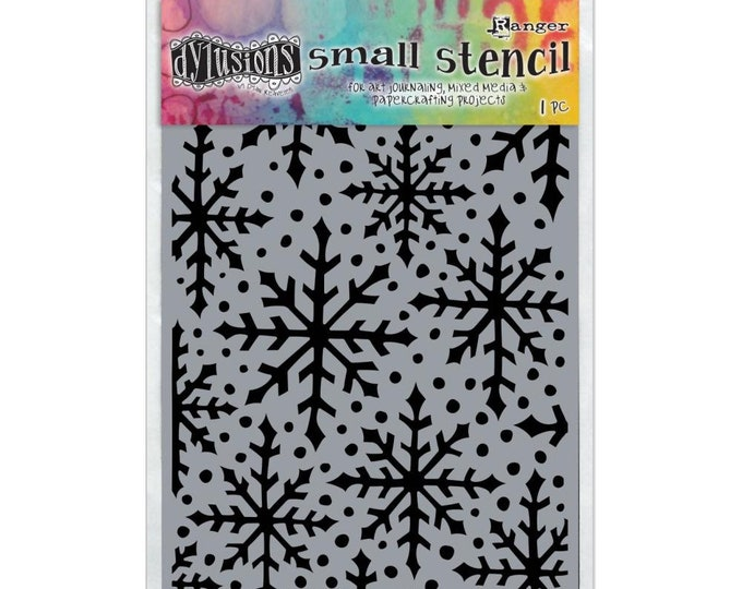 New! Ranger Dylusions SNOWFLAKE Small 5x8 Stencil by Dyan Reaveley