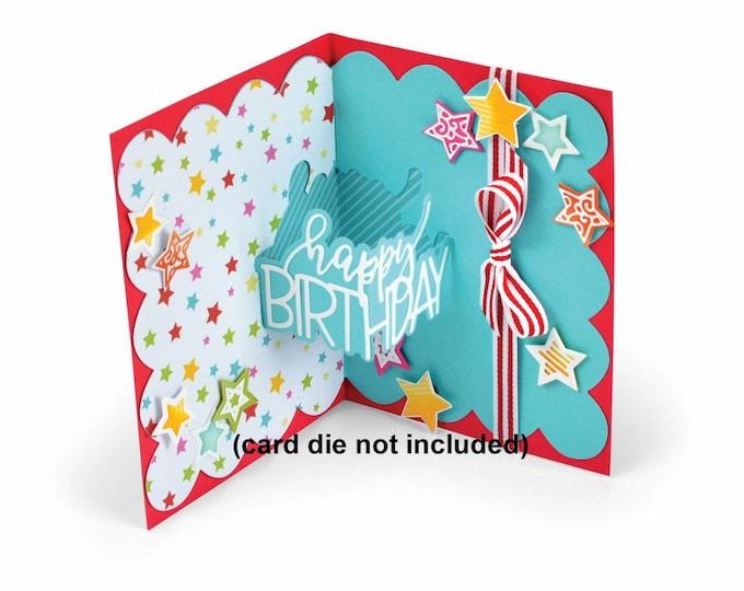 New! Sizzix Thinlits Die Set 6PK - Happy Birthday 3-D Drop-ins by Stephanie Barnard 662745