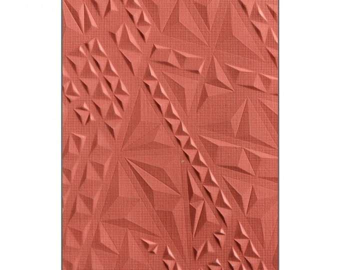 Sizzix 3-D Textured Impressions Embossing Folder - Geometric by Lindsey Serata 661258