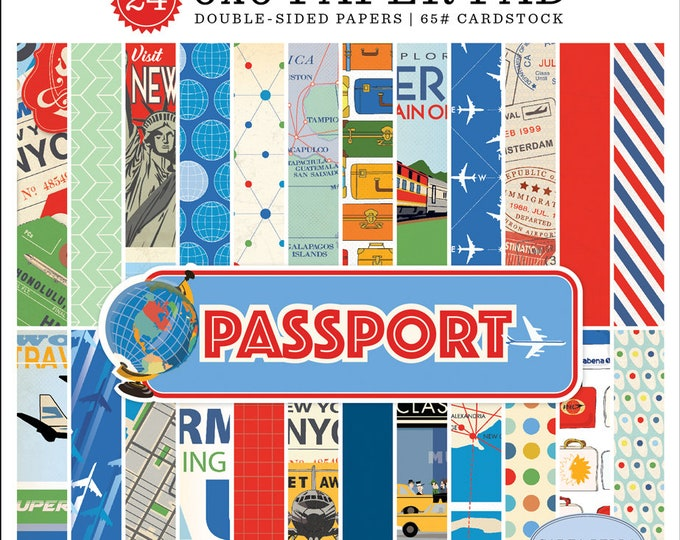Carta Bella Paper PASSPORT 6x6 Scrapbook Paper Pad (CBPAS84023)