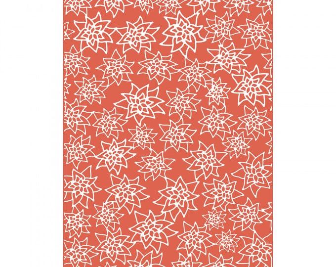 New! Sizzix Textured Impressions Plus Embossing Folder - Flores Navideñas (Christmas Flowers) 663226