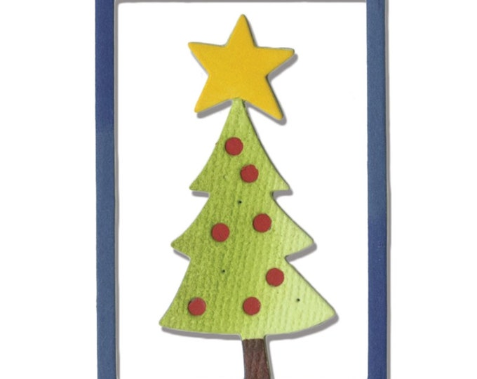New! Sizzix Thinlits Die - Christmas Tree #2 by Debi Potter