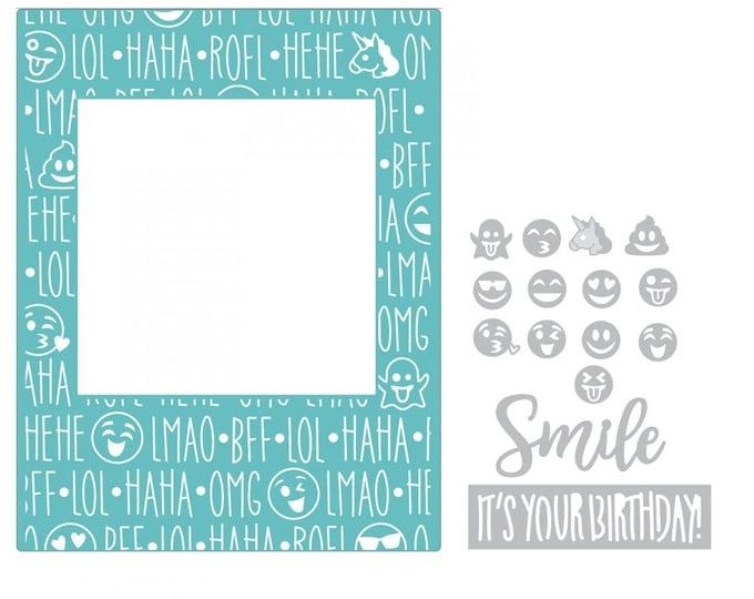 New! Sizzix Impresslits Cut & Emboss Embossing Folder - Birthday Smiles 662457