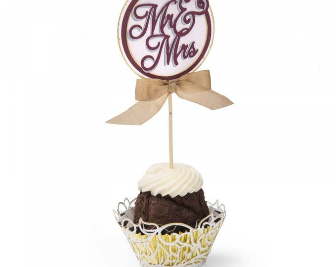 Sizzix Thinlits Die Set 5PK - Cupcake Wrapper & Toppers by David Tutera 661877
