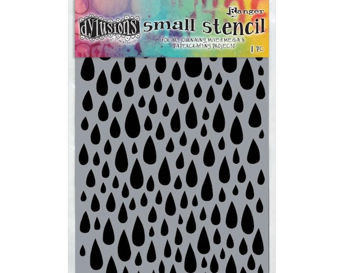 New! Ranger Dylusions TEARDROPS Small 5x8 Stencil by Dyan Reaveley