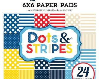 Echo Park Paper DOTS & STRIPES Summer (Nautical) 6x6 Scrapbook Paper Pad (DS170102)