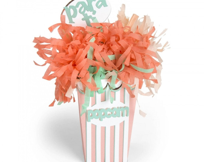 New! Sizzix Bigz Plus Die for the Big Shot Plus - Caja de Palomitas (Popcorn Box) by Luisa Elena Guillen-K 662956