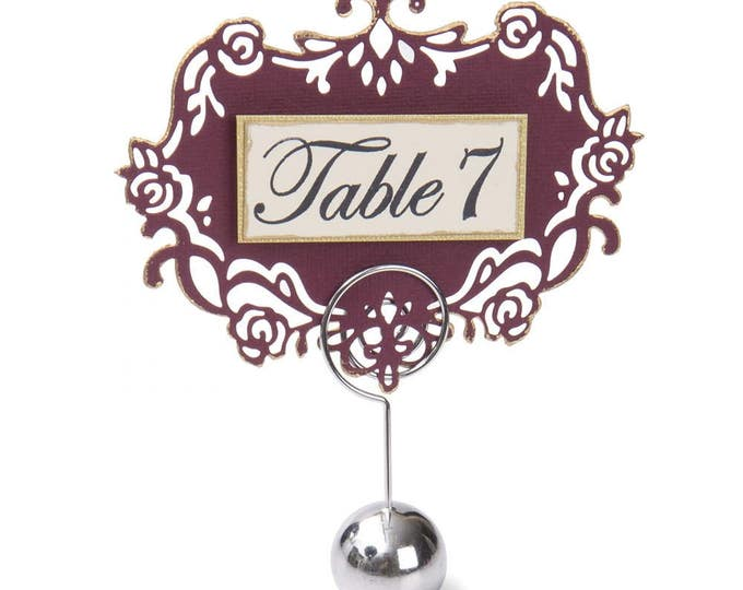 Sizzix Clear Stamps - Sentiments & Table Numbers by David Tutera 661890