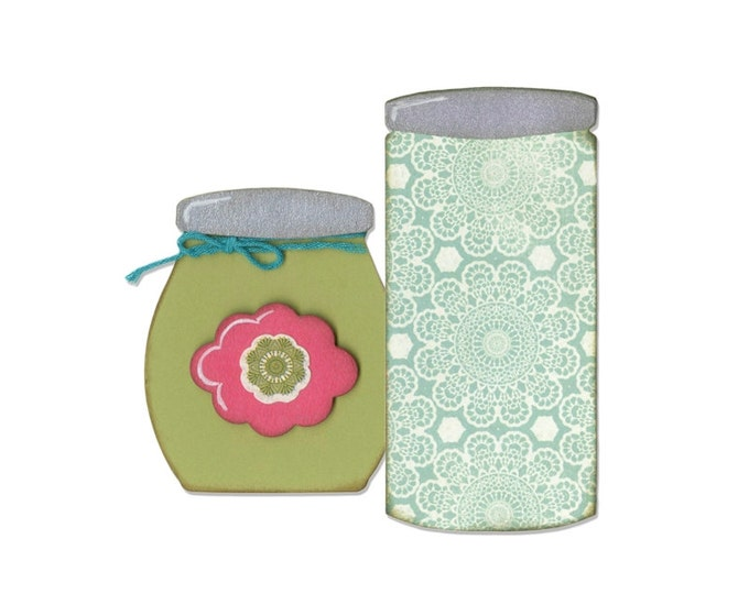 Sizzix Bigz Die - Button Jars & Labels by Eileen Hull 660764