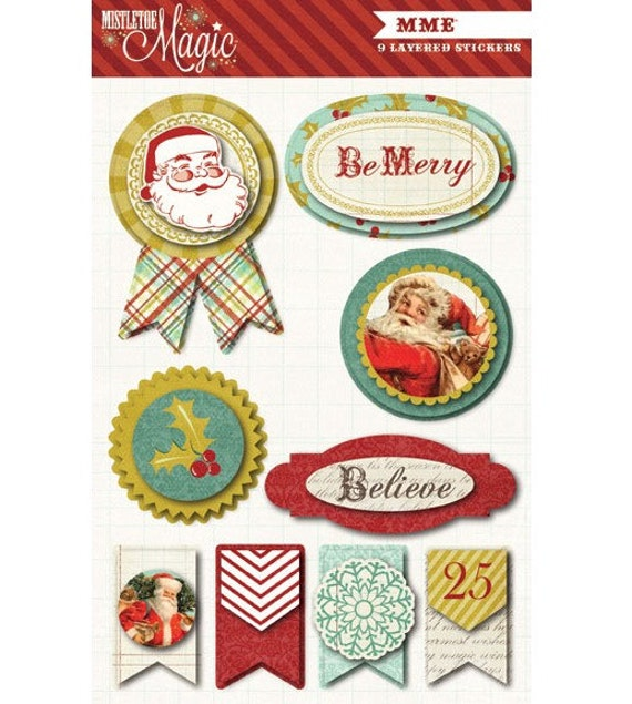 My Mind's Eye MISTLETOE MAGIC Layered Stickers