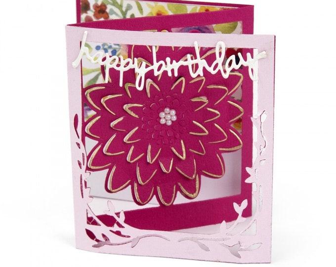 New! Sizzix Thinlits Die Set 5PK - Card, Floral Tri-fold by Lindsey Serata 662762