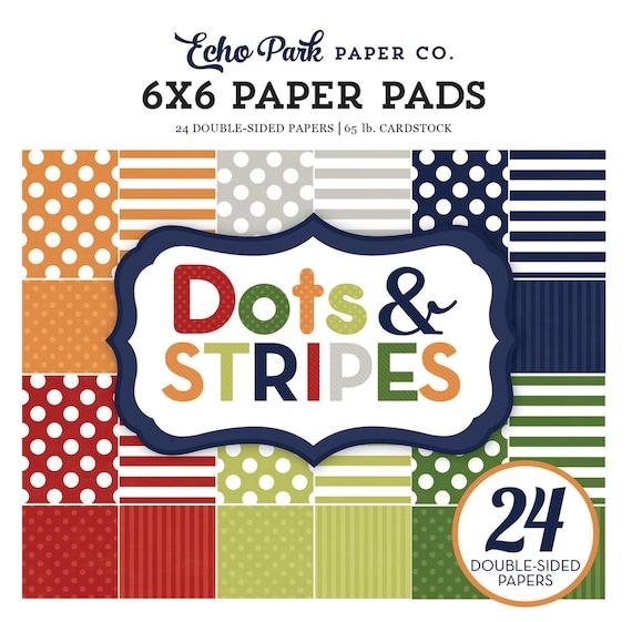 Echo Park Paper DOTS & STRIPES Little Boy 6x6 Scrapbook Paper Pad (DS17062)