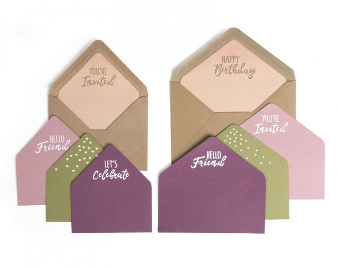 New! (will ship July 25th) Sizzix Framelits Die Set 10PK - Envelope Liners, A2 & A7 by Katelyn Lizardi 662792