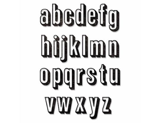 Sizzix Thinlits Die Set 21PK 664808 Alphanumeric Shadow Numbers by Tim Holtz