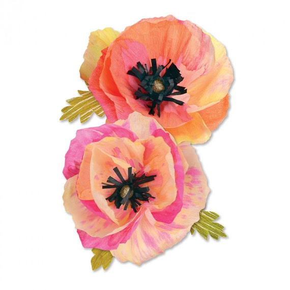 Sizzix Thinlits Die Set 4PK - Large Poppy by Brenda Walton 661090