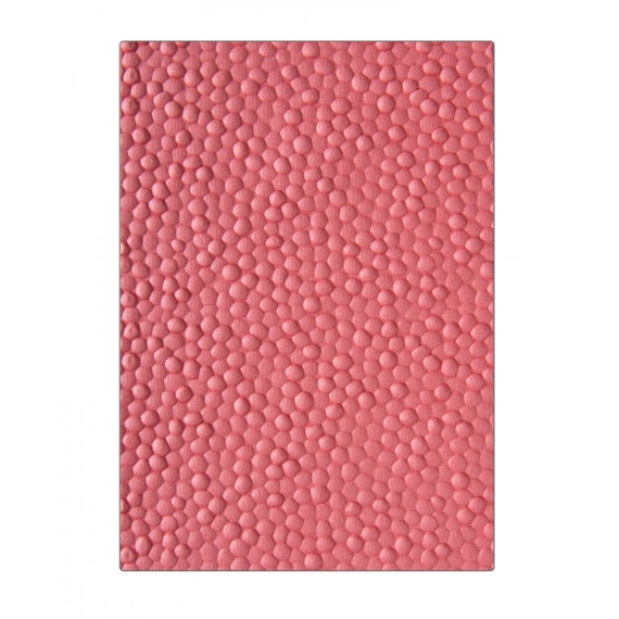 New! Sizzix 3-D Textured Impressions Embossing Folder - Cobblestone by Courtney Chilson 662825