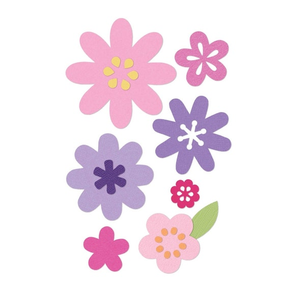 Sizzix Thinlits Die Set 11PK - Flower Layers & Leaf by Stephanie Barnard 660146