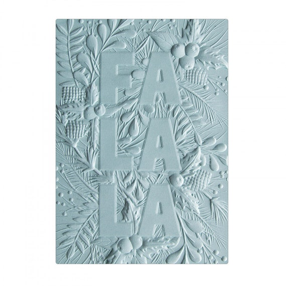 New! Sizzix 3-D Textured Impressions Embossing Folder - Fa La La by Courtney Chilson 663207