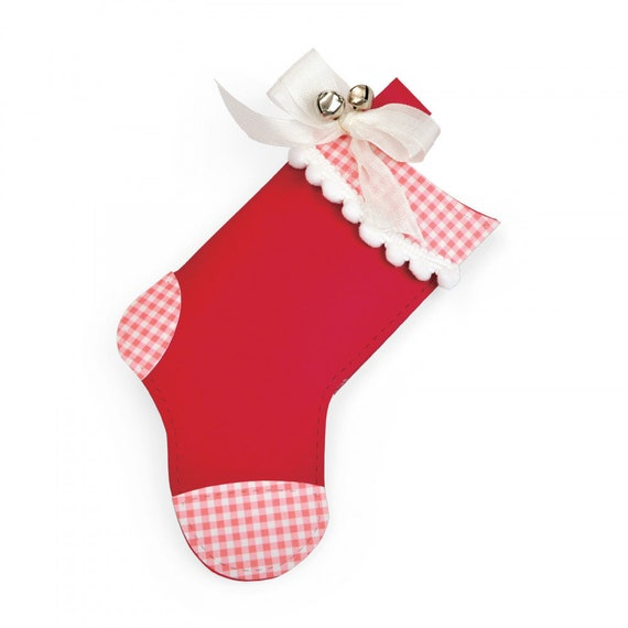 New! Sizzix Bigz L Die - Pillow Box, Christmas Stocking by Lynda Kanase 663209