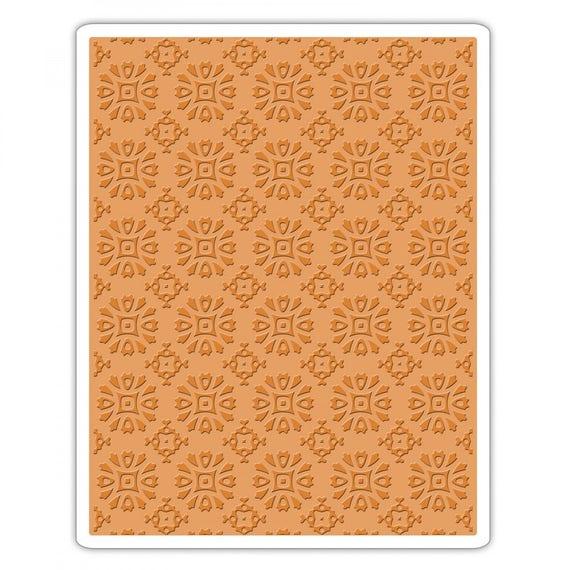 Sizzix Tim Holtz Texture Fades Embossing Folder - Rosettes - 662391