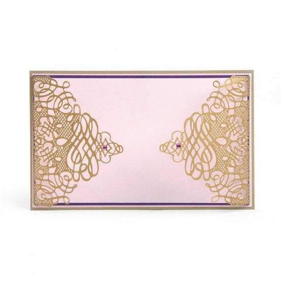New! Sizzix Thinlits Die - Solapa de Invitación Delicada (Delicate Invitation Flap) by Luisa Elena Guillen 663225