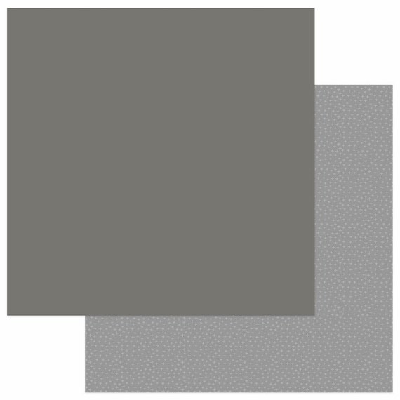New! 2 Sheets of Photo Play SNUGGLE UP BOY Solids+ 12x12 Baby Theme Scrapbook Cardstock Paper - Dark Grey