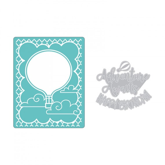 Sizzix Impresslits Cut & Emboss Embossing Folder - Hot Air Balloon 662830