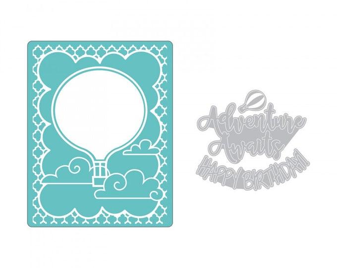 New! (will ship July 25th) Sizzix Impresslits Cut & Emboss Embossing Folder - Hot Air Balloon 662830