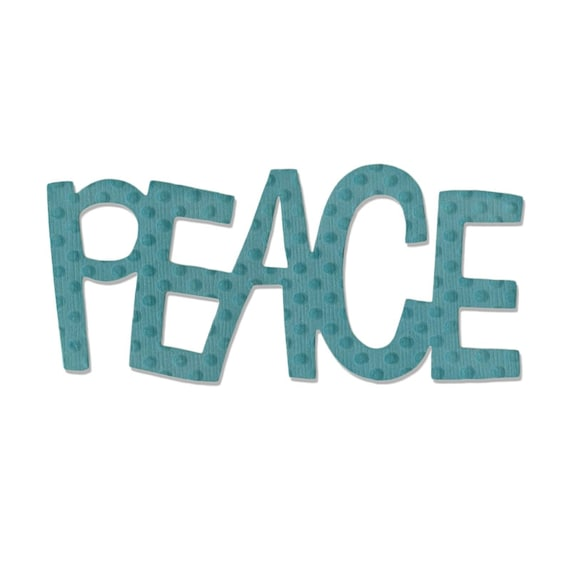 Sizzix Medium Originals Die - Phrase, Peace #2 by Stephanie Ackerman