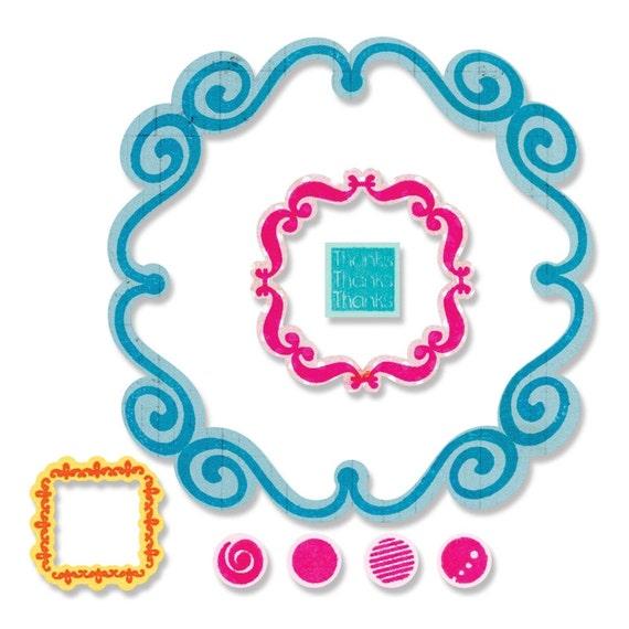 Sizzix Framelits Die Set 9PK w/ Clear Stamps - Thank You by Stephanie Barnard (659209)