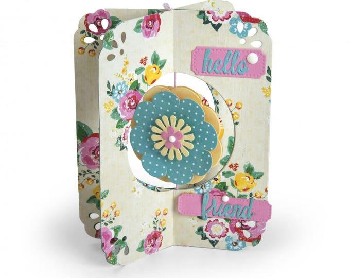 New! Sizzix Thinlits Die Set 12PK - Card, Flower by Lori Whitlock 662349 (X-Cards)