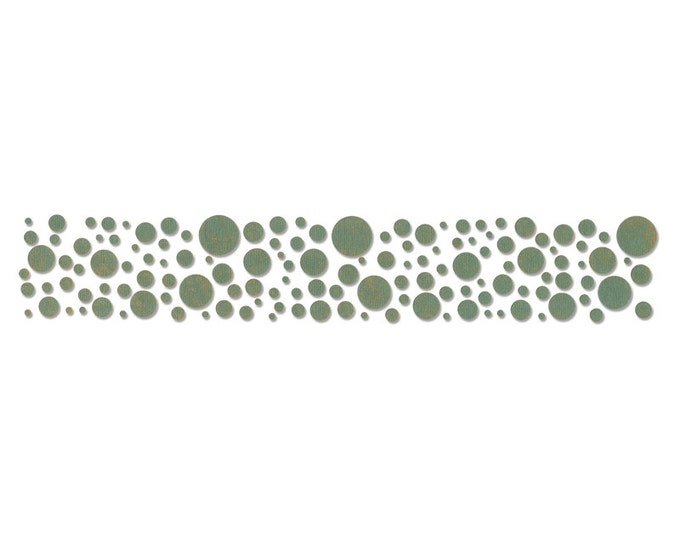 New! Sizzix Tim Holtz Alterations Decorative Strip Die - CONFETTI (Circles, Bubbles)